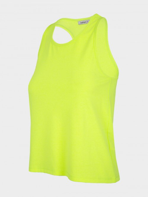 Women's tank top TSD610 - canary green neon