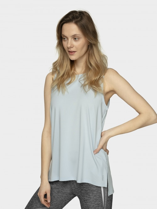 Women's active tank top TSDF603  light blue