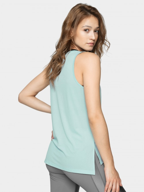 Women's active tank top TSDF603 - light blue