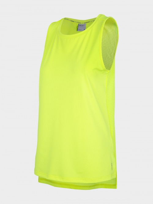 Women's active tank top TSDF603  canary green neon